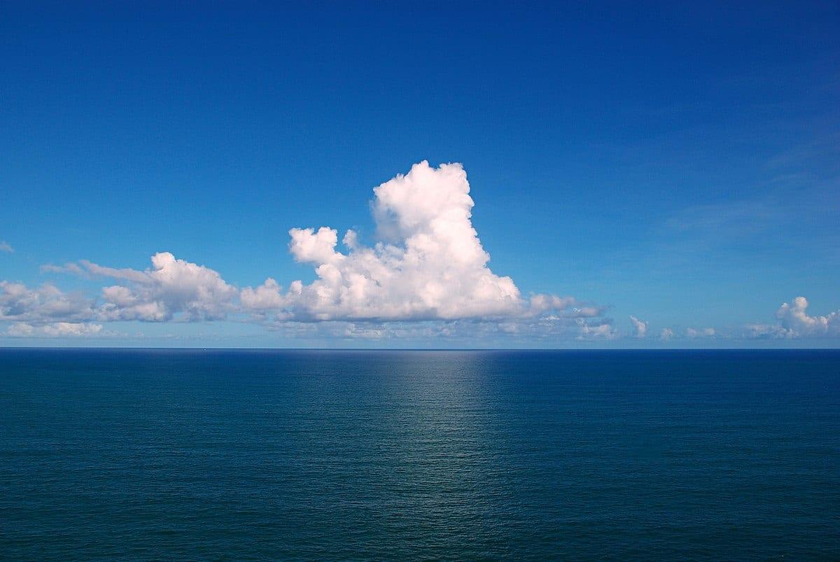 cloud over the ocean